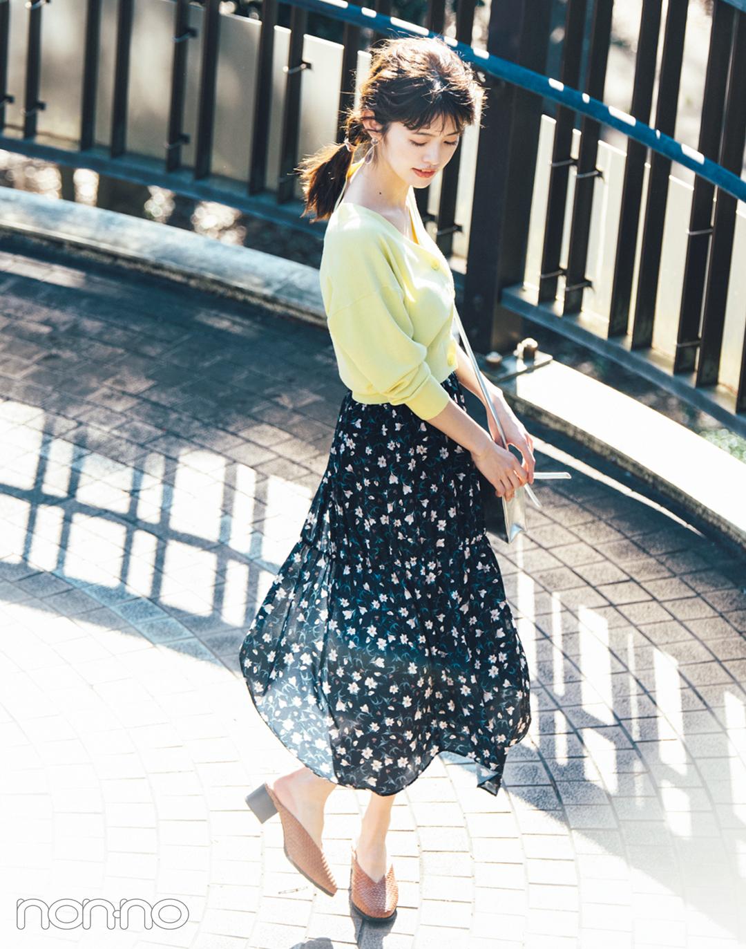 マーキュリーデュオの花柄切り替えスカートが可愛い!_1_4-3