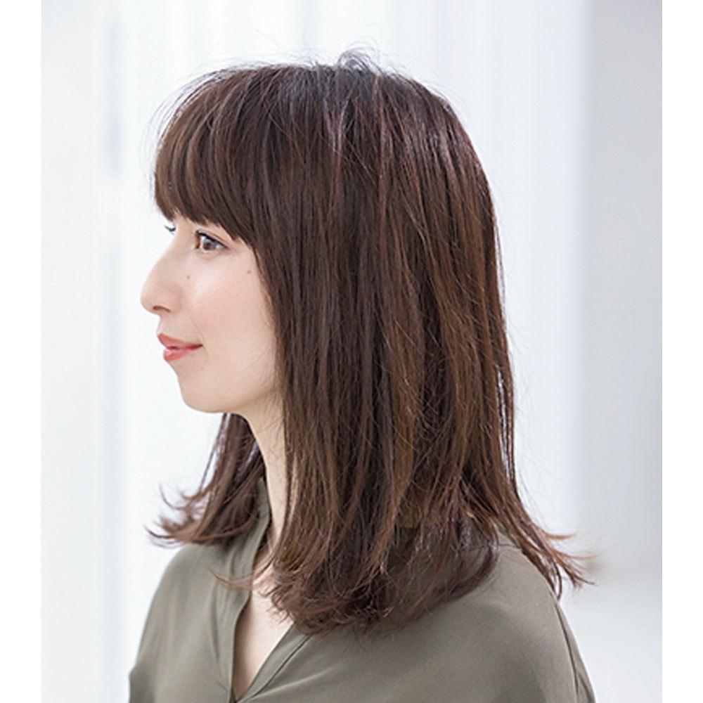 スタイリング前の人気ロングヘアスタイル2位の髪型