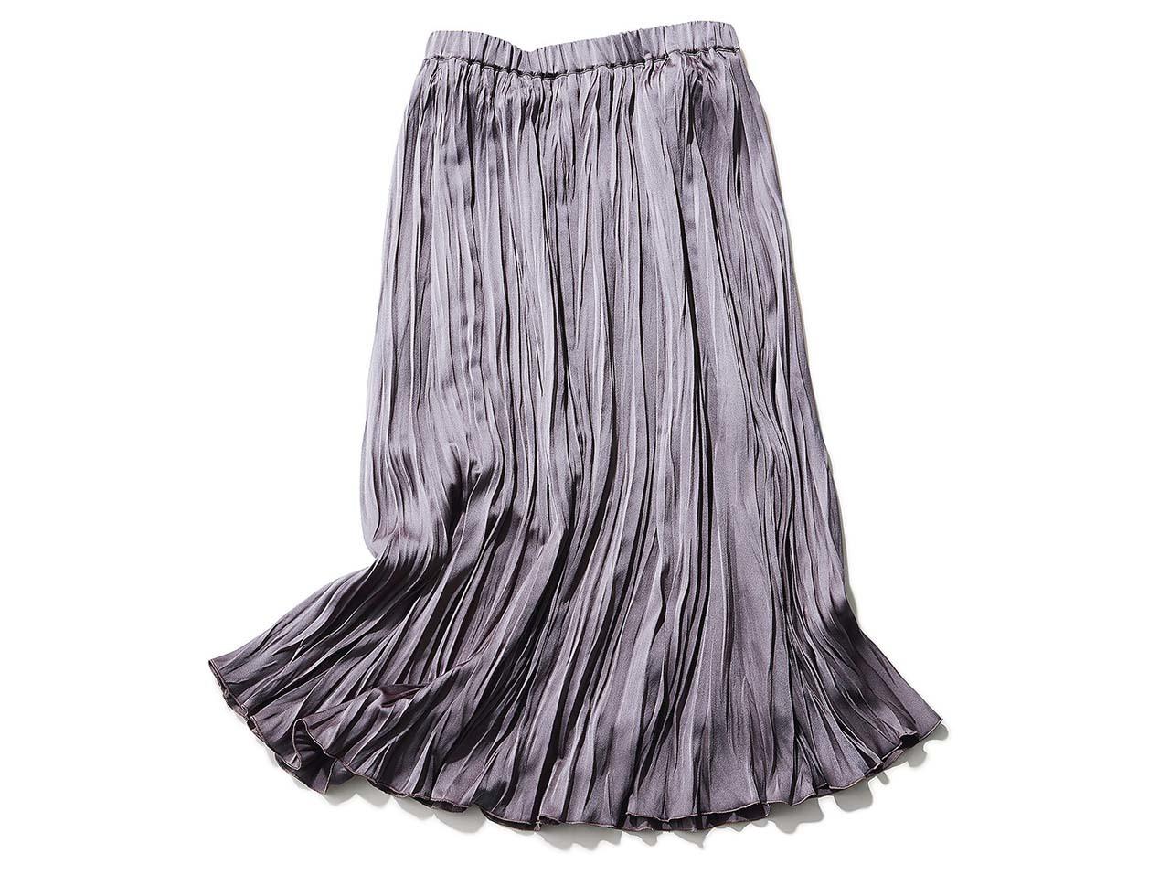 フォンセ/ルージュ・ヴィフの光沢プリーツスカート