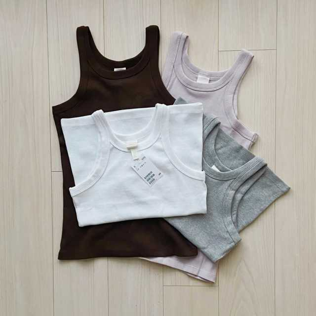 【H&M】全色買いしたタンクトップ【40代のミニマルファッション】_1_1