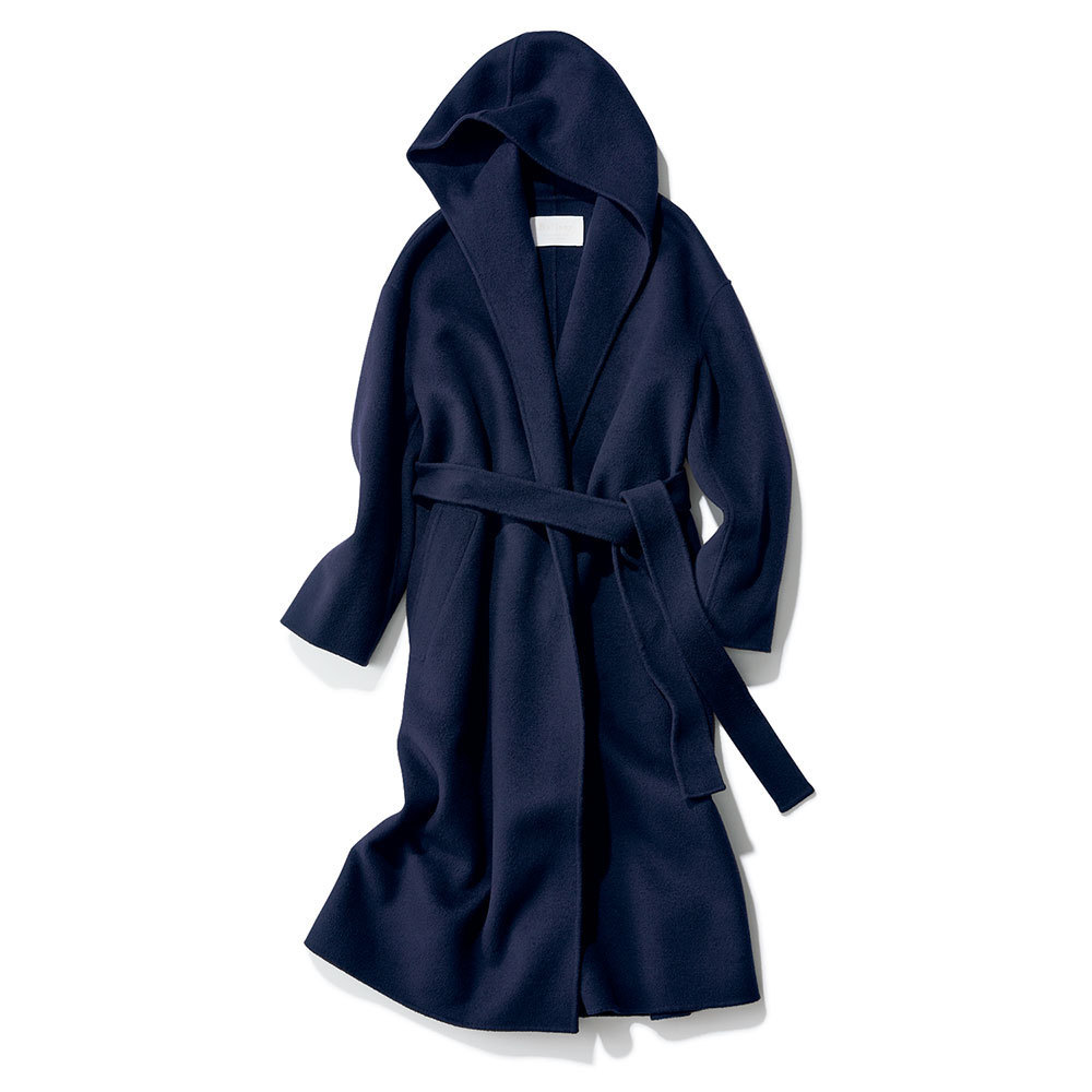 ファッション ネイビーのコート