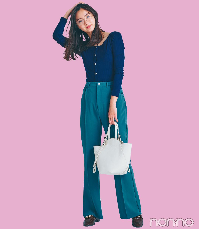 【2021年ファッショントレンド vol.6】鮮度が格段にUPするカラーパンツ_1_3