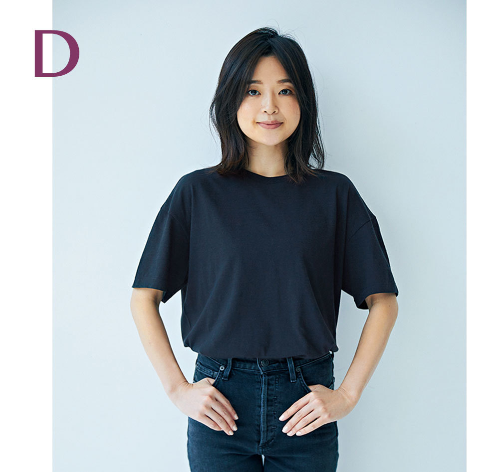 二の腕が気になる色白スタイリスト吉村友希さんが選ぶ4つのTシャツ_1_7
