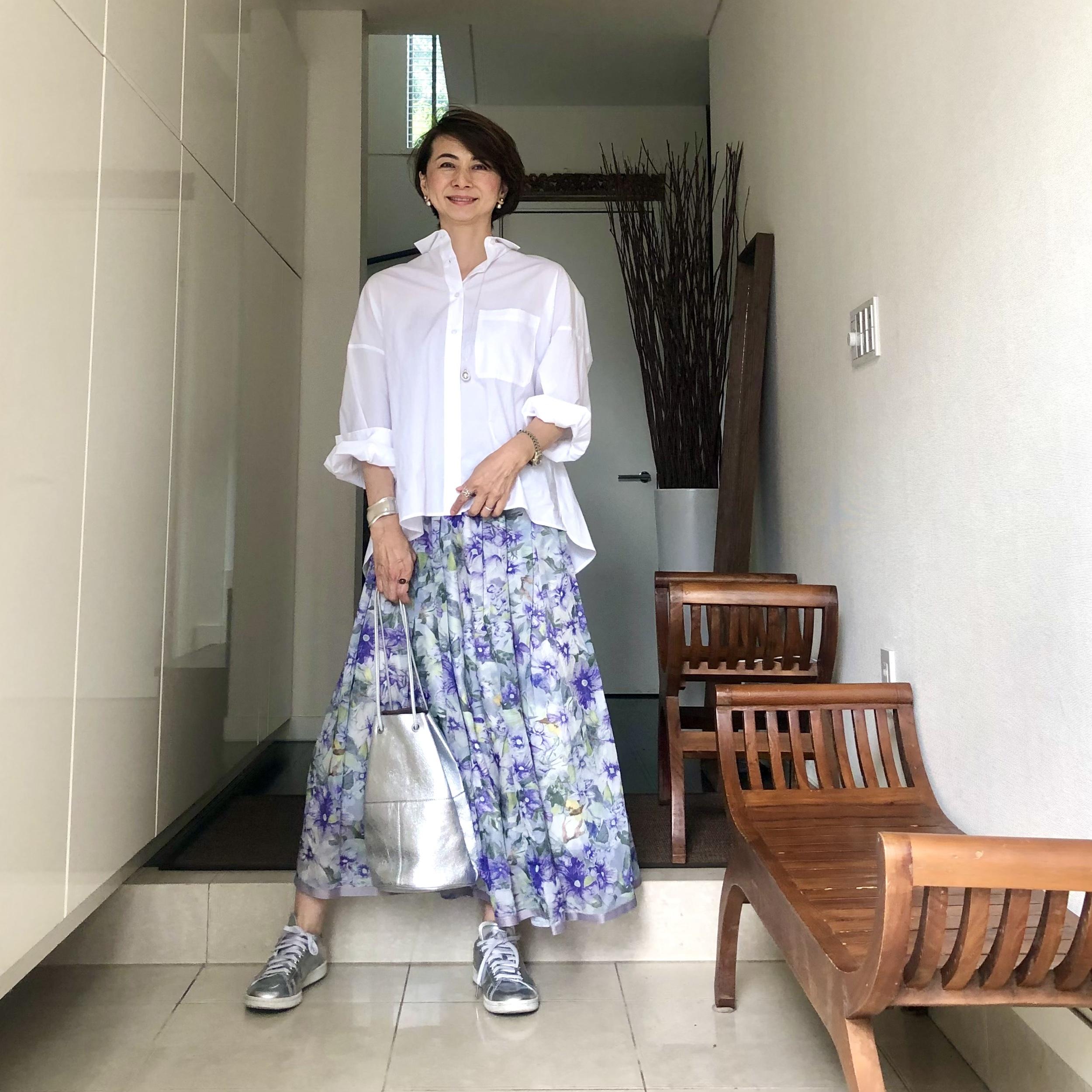 ひらりん花柄スカート_1_3