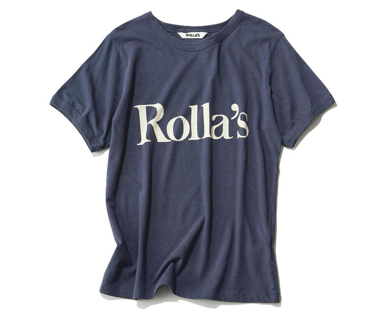 ベーシックカラーのロゴTシャツ