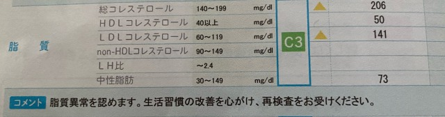 体重ではなく悪玉コレステロールを減らせ、という話。_1_1
