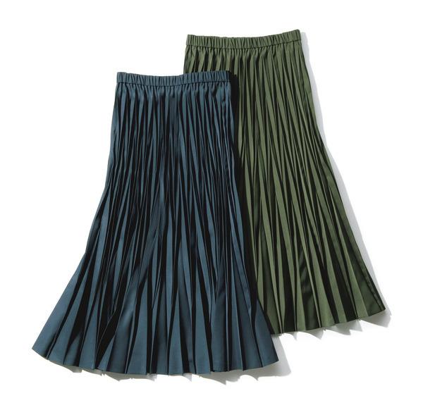 地曳いく子×eclat プリーツスカート ¥22,000+税