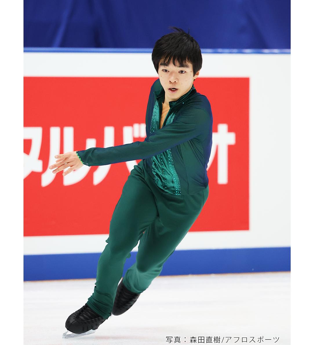2020年全日本選手権に出場したフィギュアスケートの鍵山優真選手