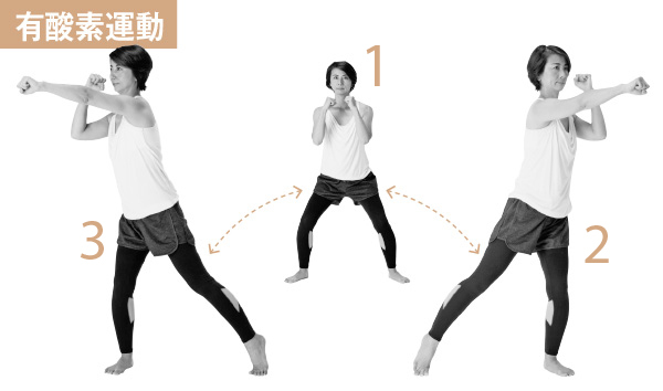 有酸素運動&ストレッチの合わせ技で最短ヤセを目ざす!【簡単スクワット】_1_2