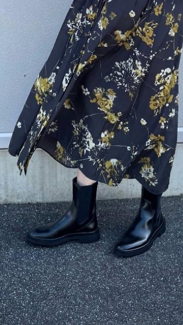 今季購入したブーツで秋の休日ワンピースコーデ_1_4