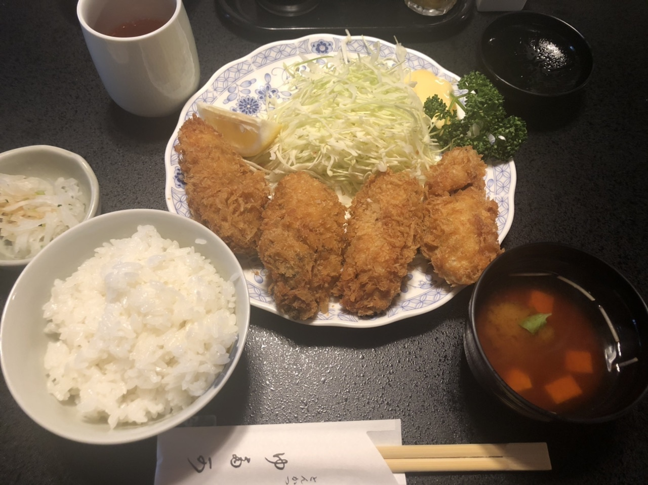 浅草 とんかつ『ゆたか』の牡蠣フライ定食