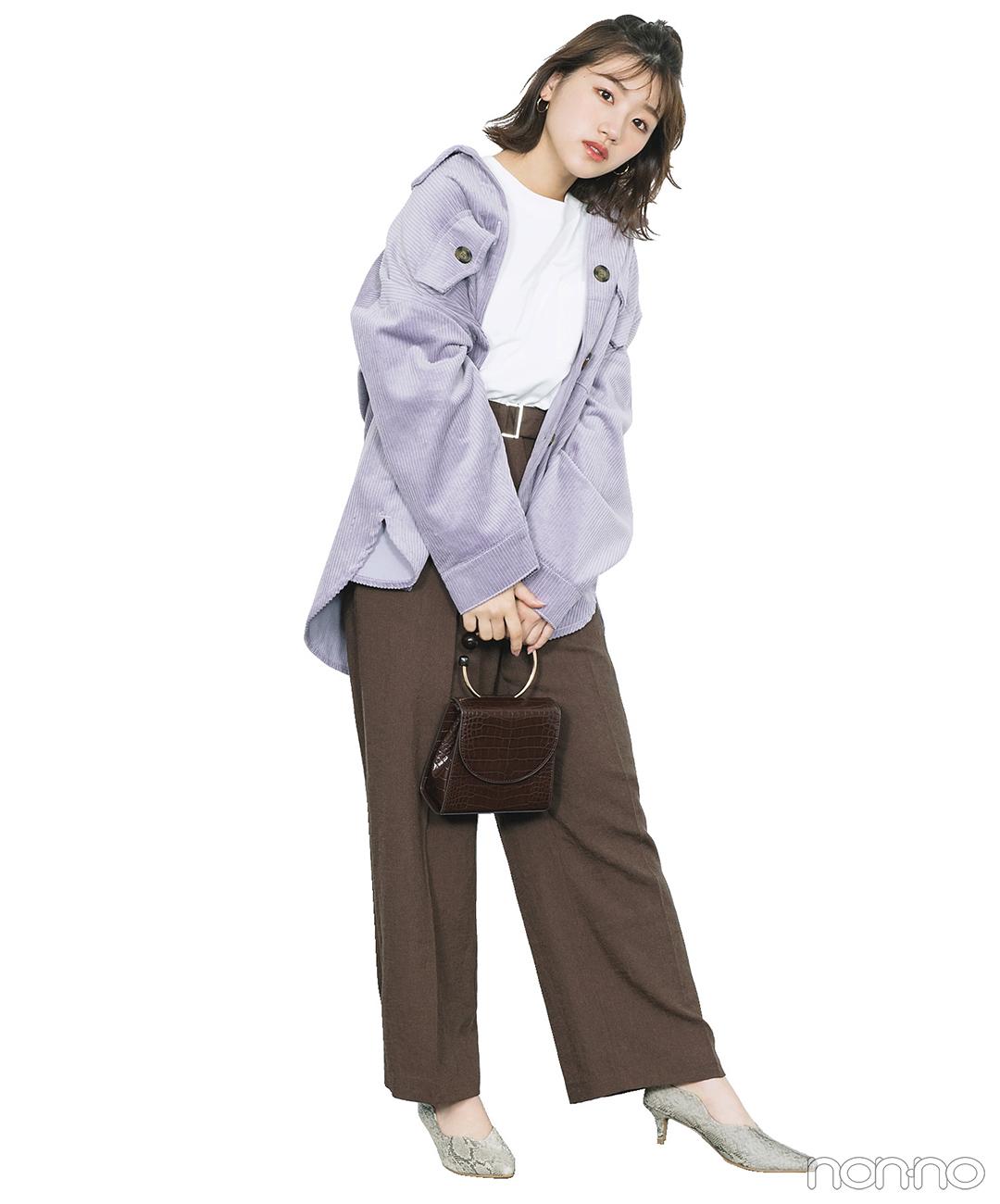 トレンドのシャツジャケコーデは、辛口な足元でアップデート!【毎日コーデ】