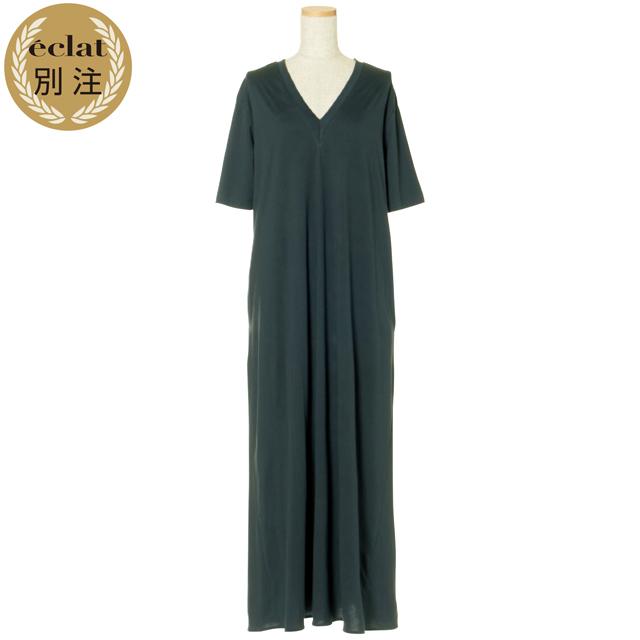 CINOH×éclatのフレアジャージードレス