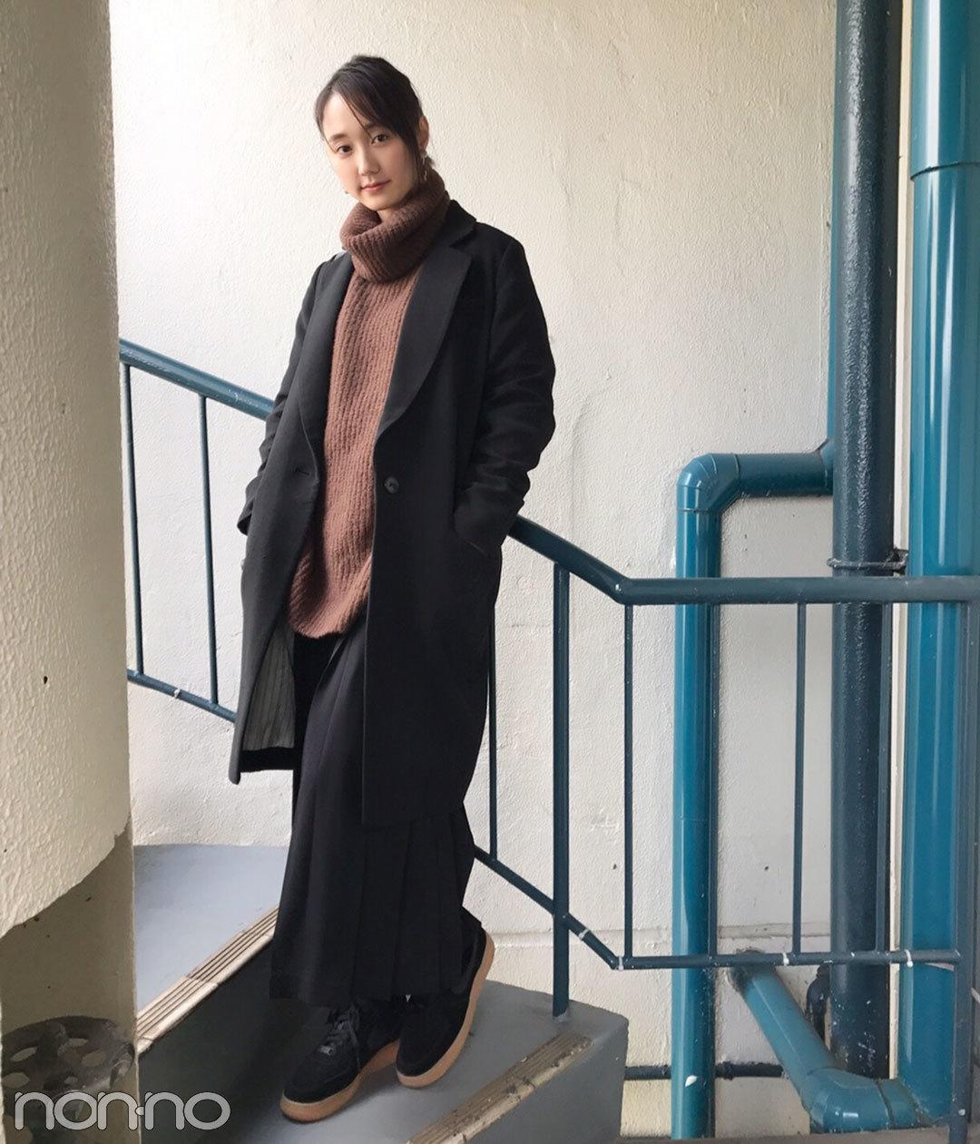 鈴木友菜、冬はDHOLICのプリーツスカートコーデが気分!【モデルの私服】_1_1