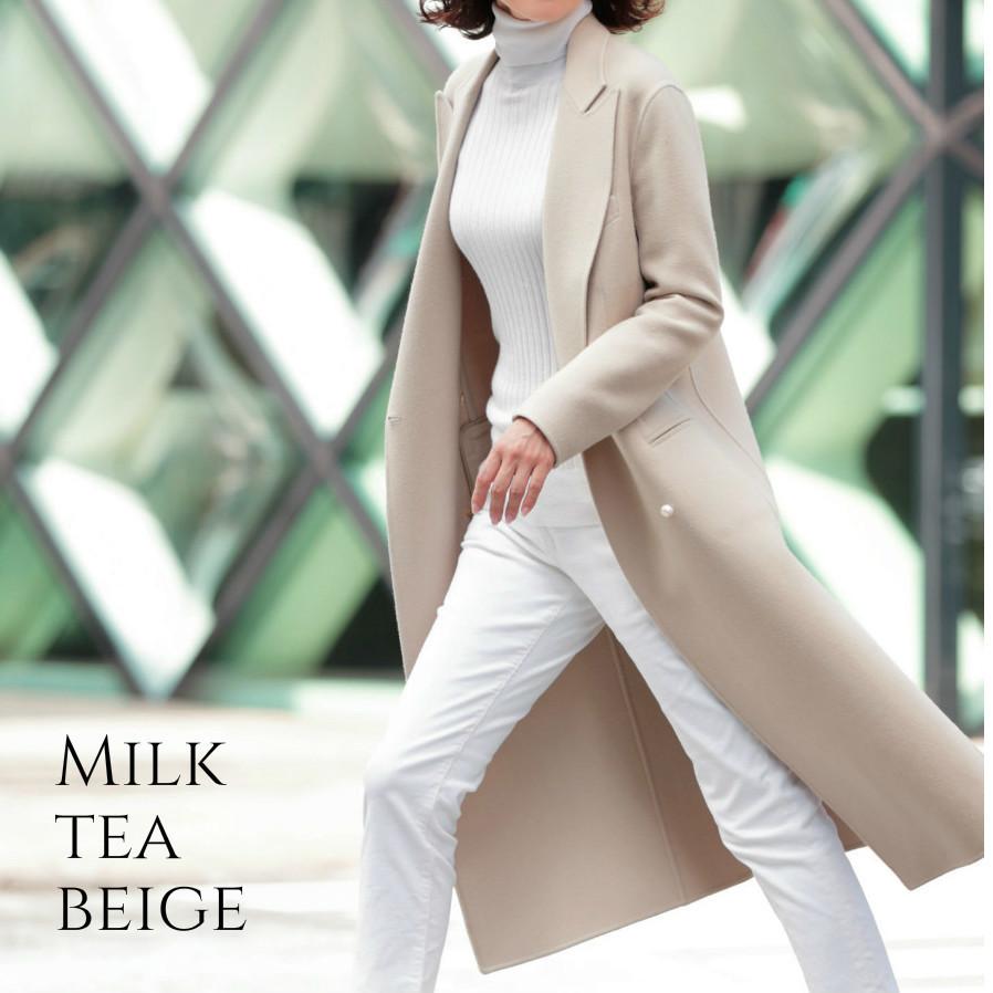 新色ミルクティー色のコートを羽織って、敬老の日のギフトを探しに_1_6