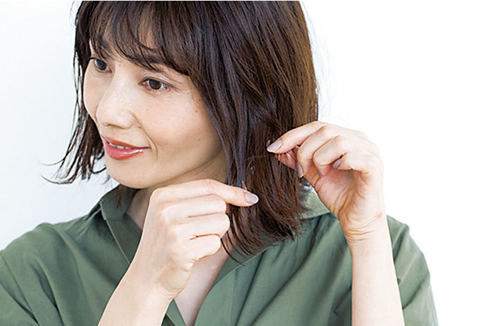 ジェルミルクで作るアラフォーのヘアスタイリング術2