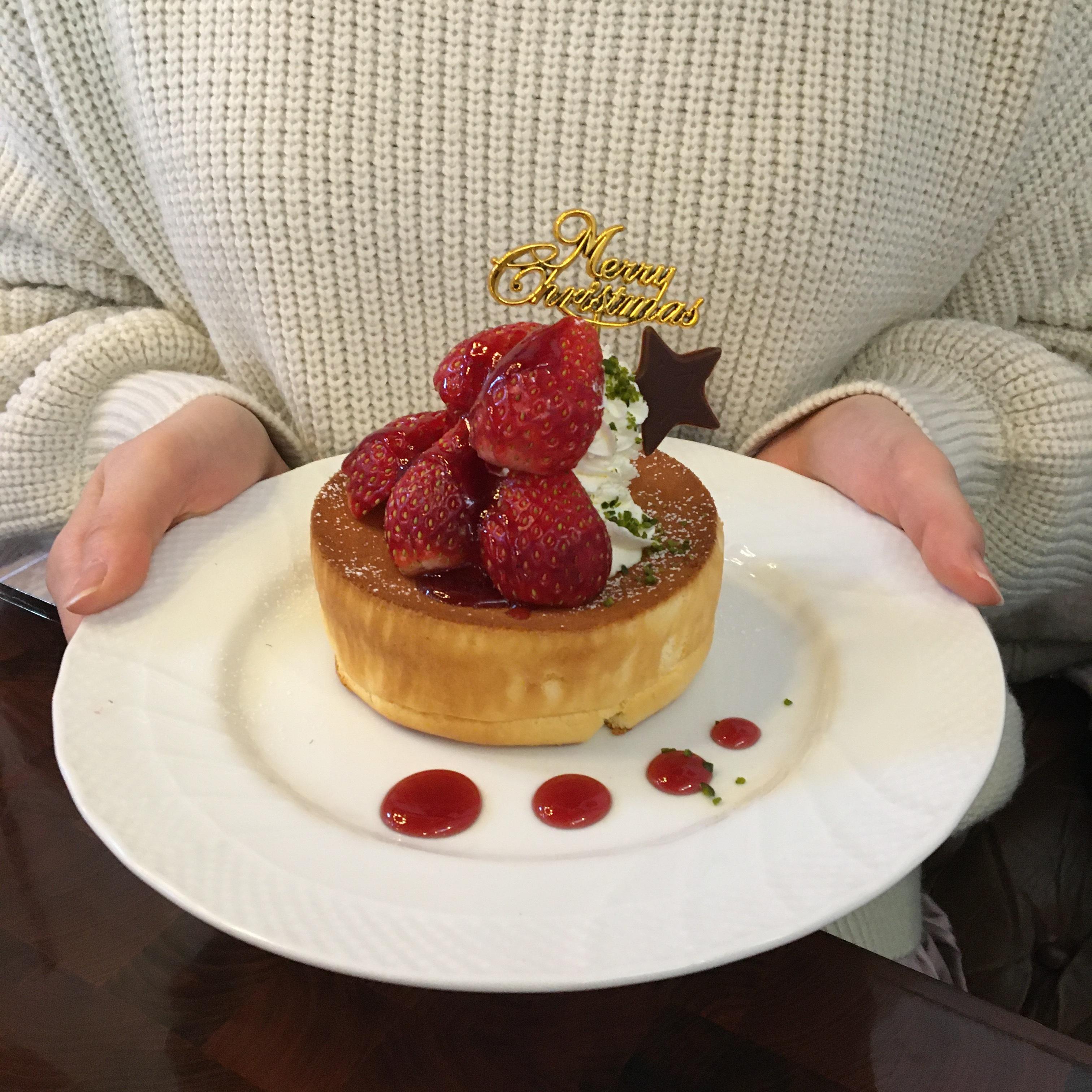 星野珈琲のクリスマスパンケーキを食べてみた♡_1_2