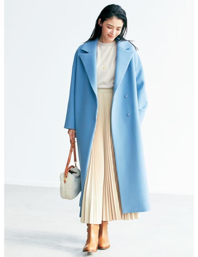 """""""小柄さん""""の冬服 全身バランスのルール コートのインは上下の色をつなげる"""