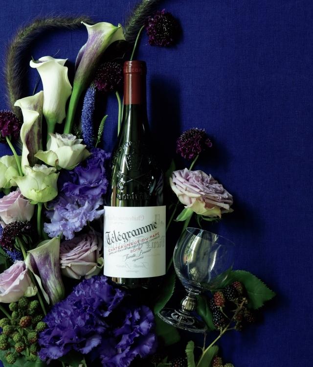 紫色のブーケを思わせるシャトーヌフ・デュ・パプ テレグラム