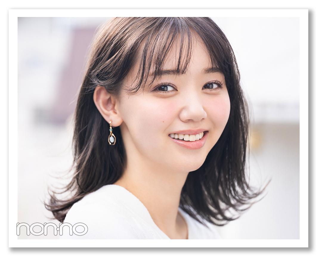 タレ目ライン×ほのキラシャドウで 好感度たっぷりのぱっちり目に 江野沢愛美