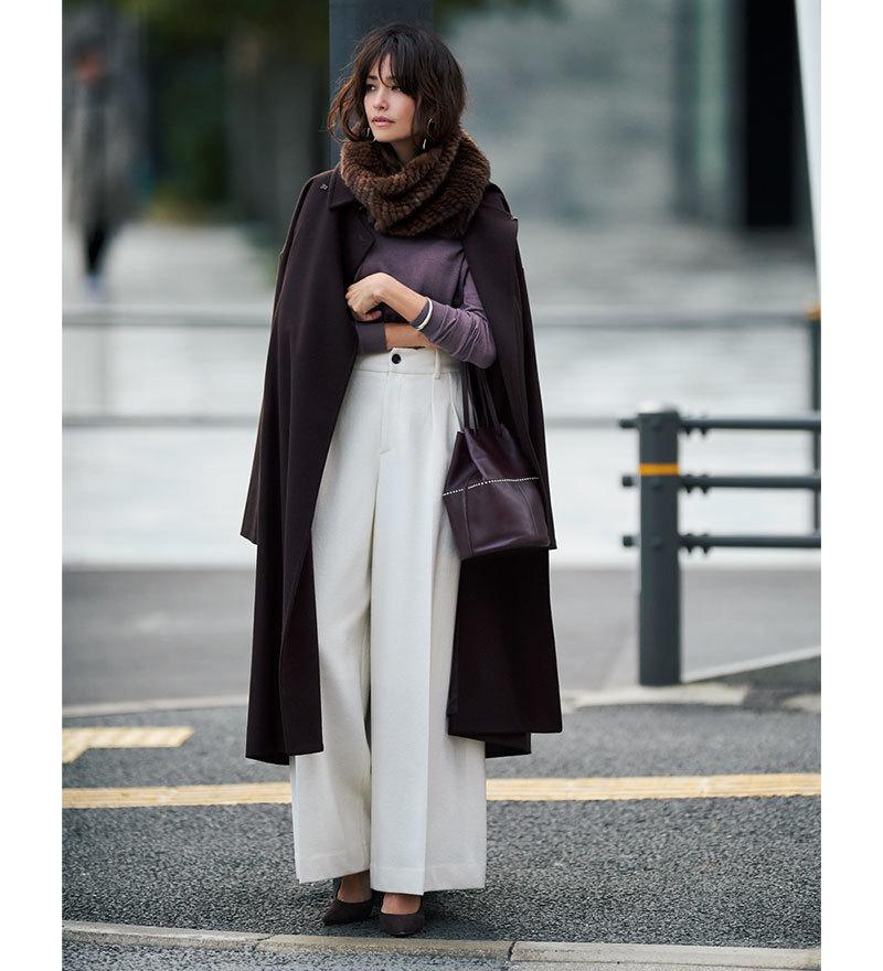 冬の着こなしが女っぽく艶めく「きれいめ白」アイテム4選_1_1-3