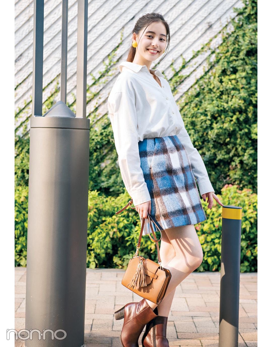 スタイルアップが叶う! ビッグシャツにはミニスカート♡【秋冬トレンド服の正解コーデ教えます】_1_5