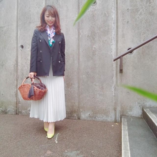 Jacket:Ships  Scarf:Manipuri  Skirt:12closet  Shoes:Pellico