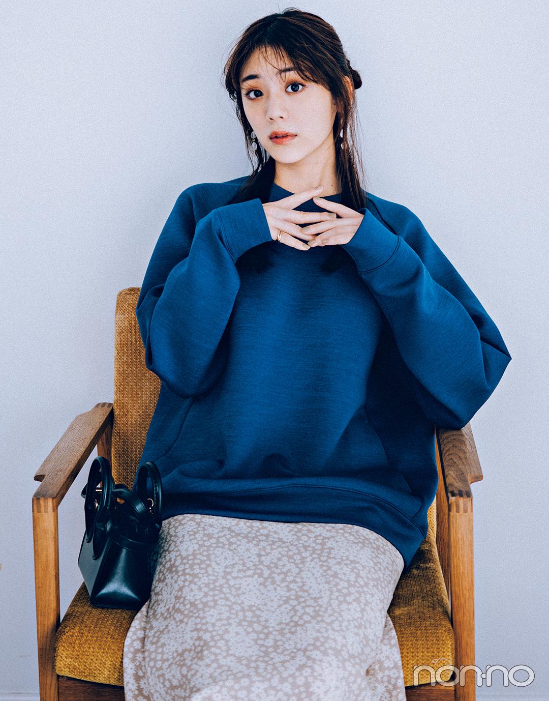 貴島明日香のユニクロメンズトップスコーデ11