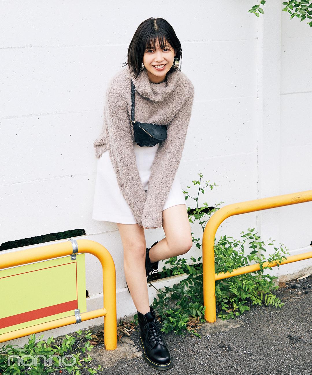 【ショートブーツコーデ】渡邉理佐が考えた★お気に入りのニットで作る「#きょコ」