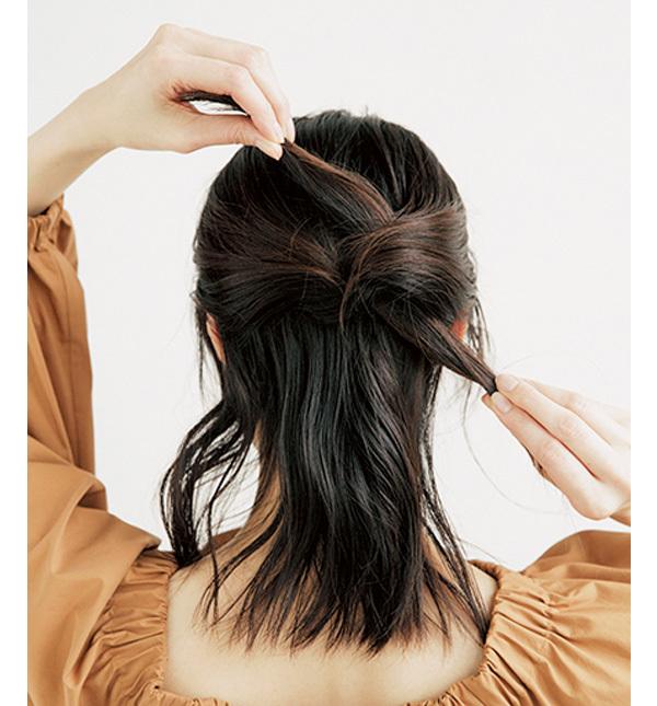 学生風にならないこなれハーフアップの作り方【40代のヘアアレンジ】_1_2-2