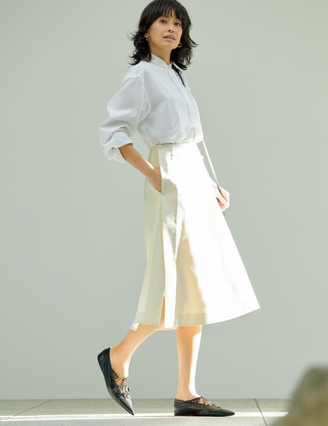 ジル サンダーのファッションコーデの高橋里奈