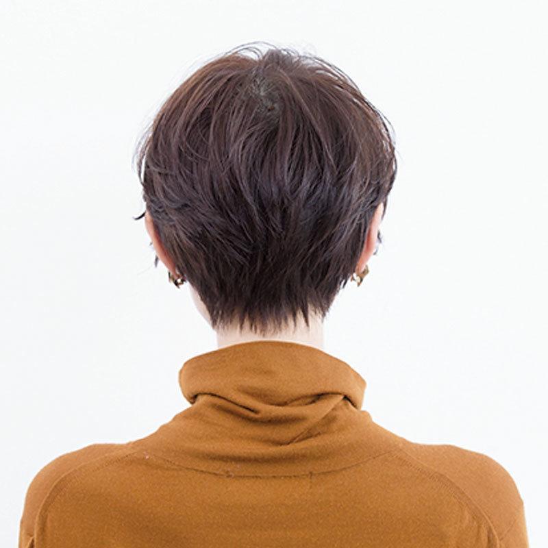 後ろから見た 40代ショートヘアスタイル人気ランキング5位