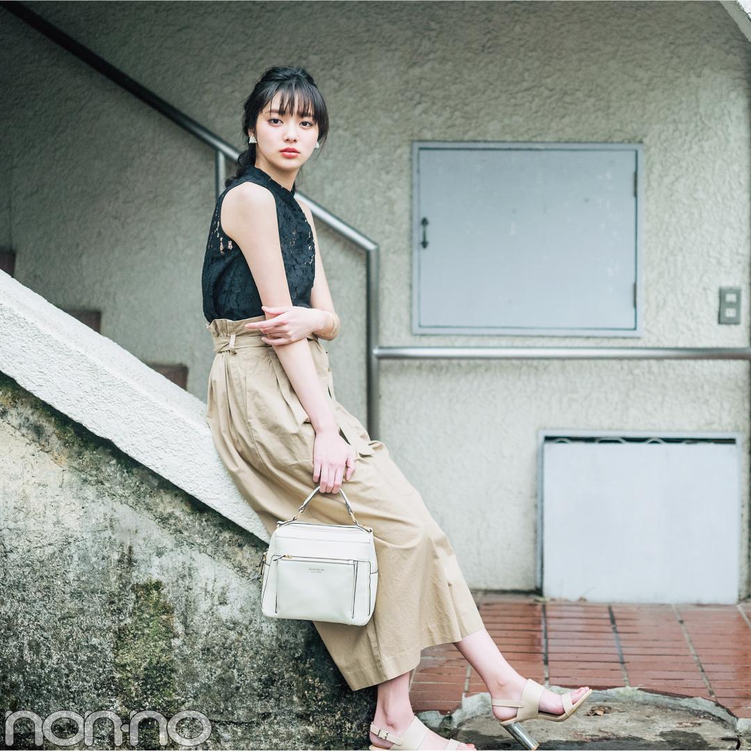 夏の注目新作★黒のレーストップスはこう着回す! 新川優愛がお手本♡ _1_2