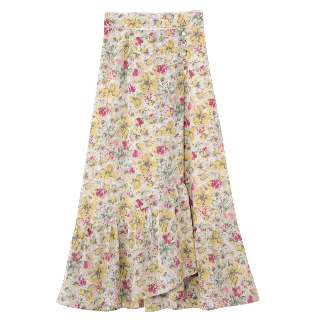 きれいめ派マスト! 秋はマーメイド風の裾フリルスカートが可愛いってウワサ★_1_3-3