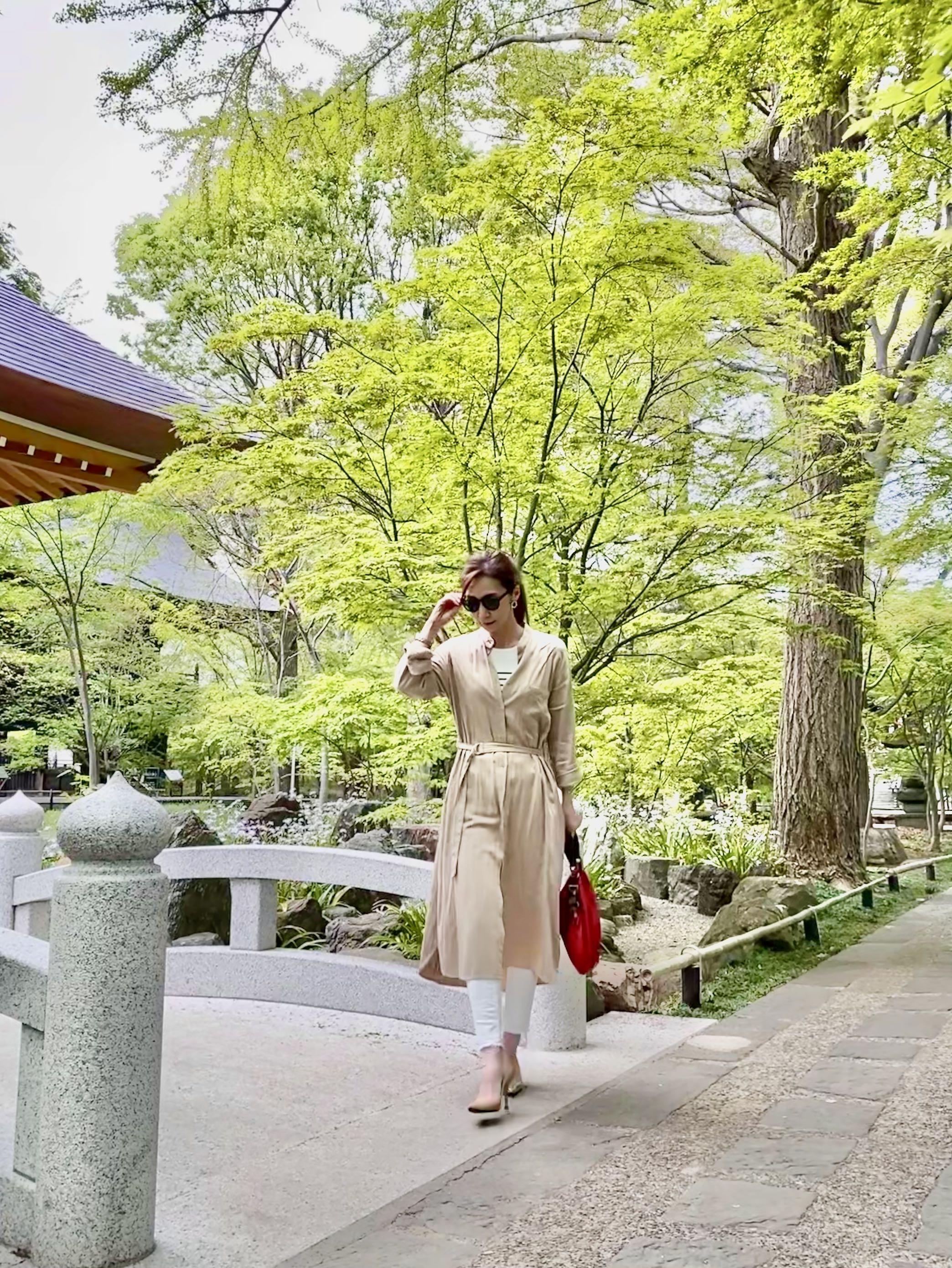 新緑の神社をお散歩