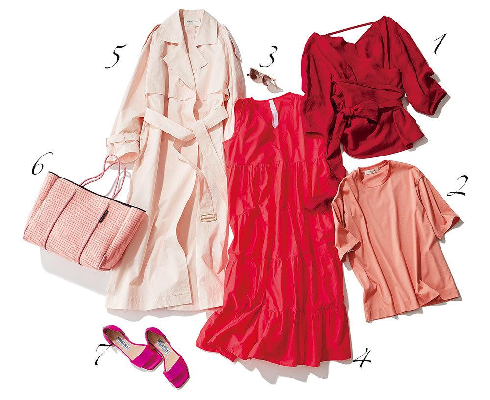 春トレンド 赤とピンク
