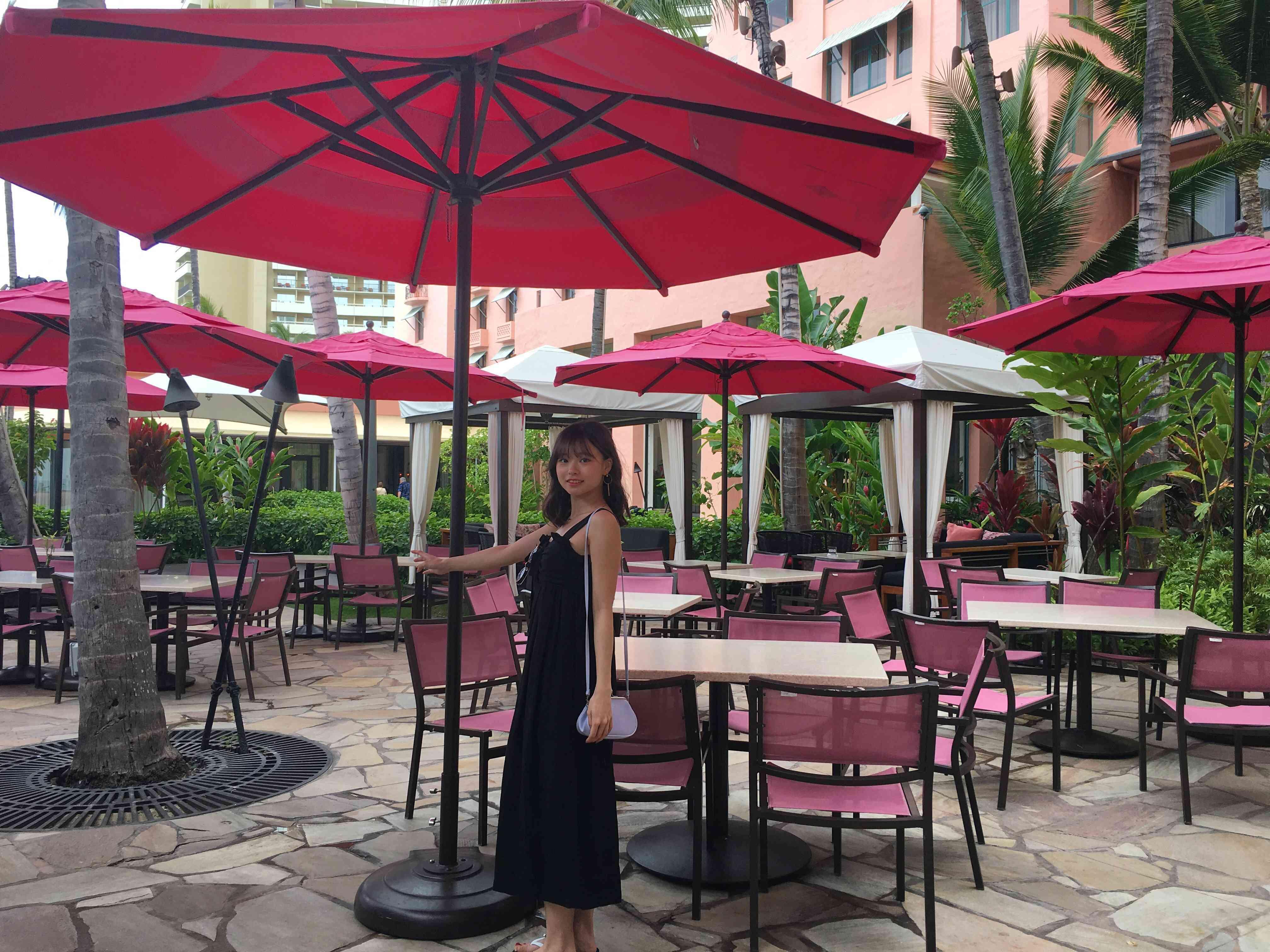 ハワイ ロイヤルハワイアンホテル サーフラナイのピンクパンケーキ_1_5