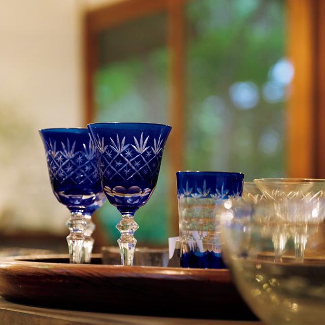 昭和の切子グラス 1脚¥900