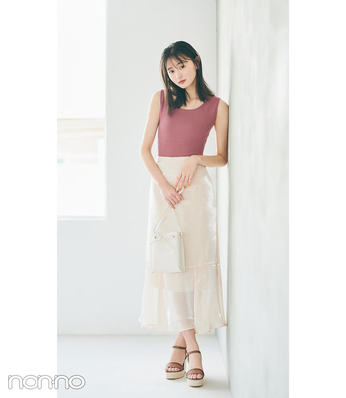 遠藤さくらのぴたノースリ×マーメイドスカートコーデ4