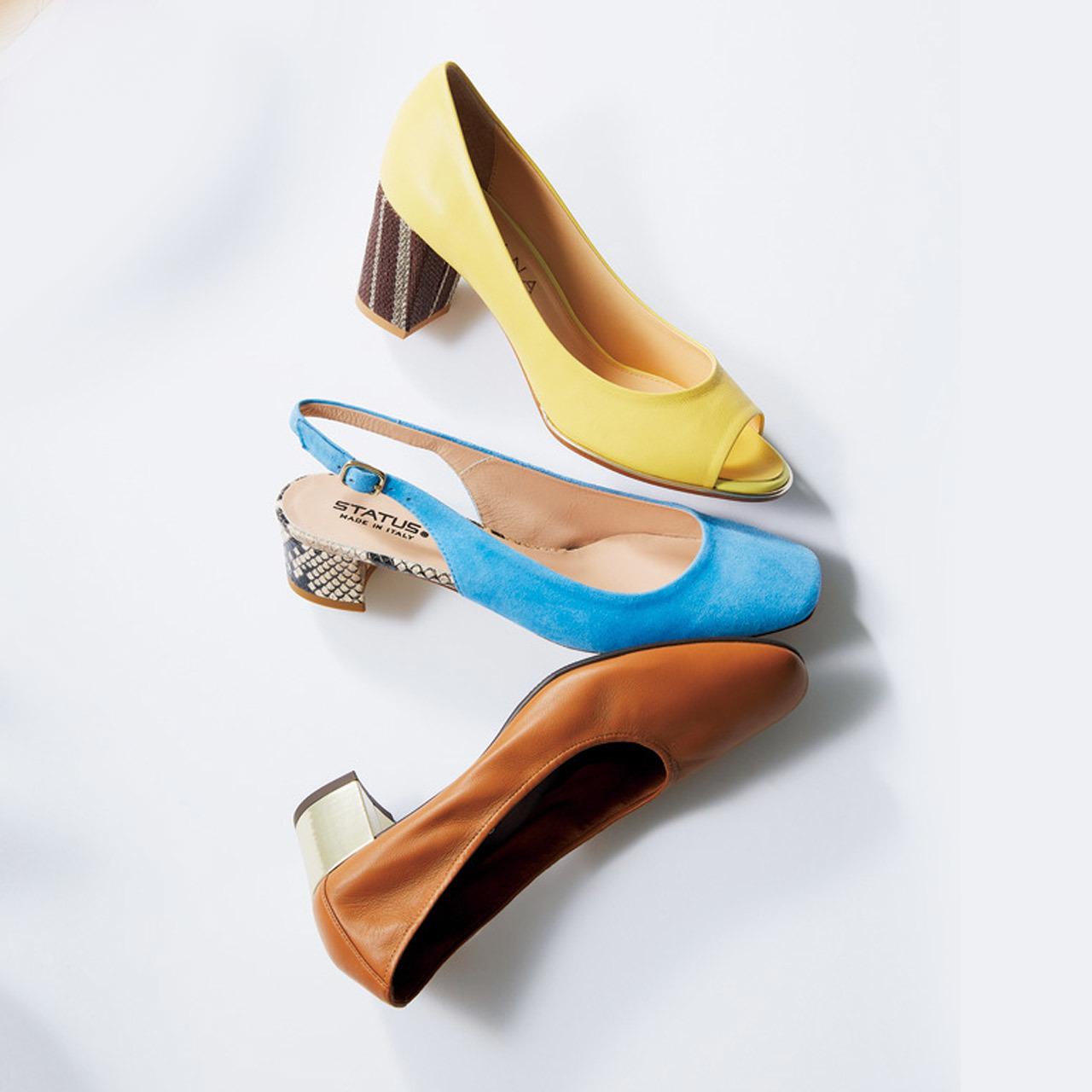 <派手めが今年流。「ヒールコンシャス」な靴、増えてます>