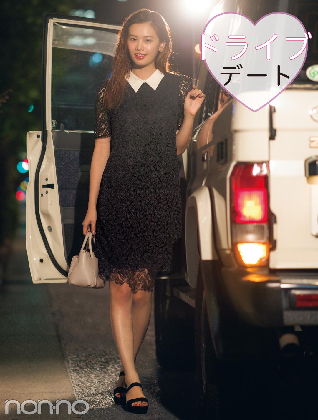 夜のデートスポット、服装のおすすめはちょい短め丈のワンピ!_1_3