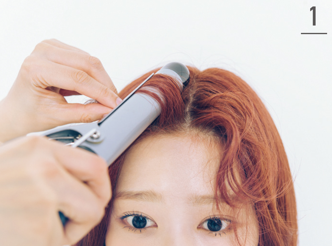 IZ*ONEの前髪アレンジ★ ミンジュがカールアイロンで前髪巻きを公開!_1_4-1