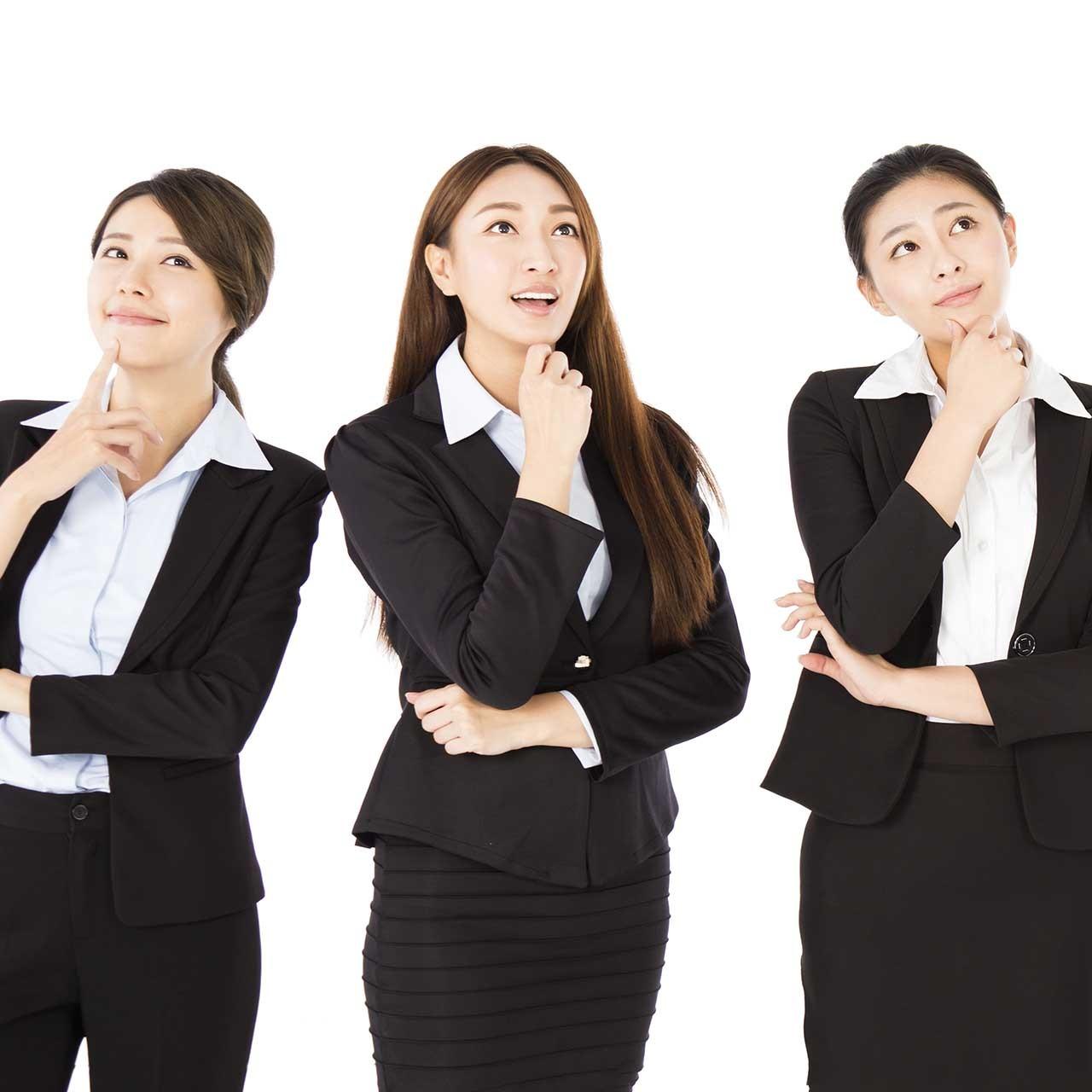 働くアラフォー女性3人