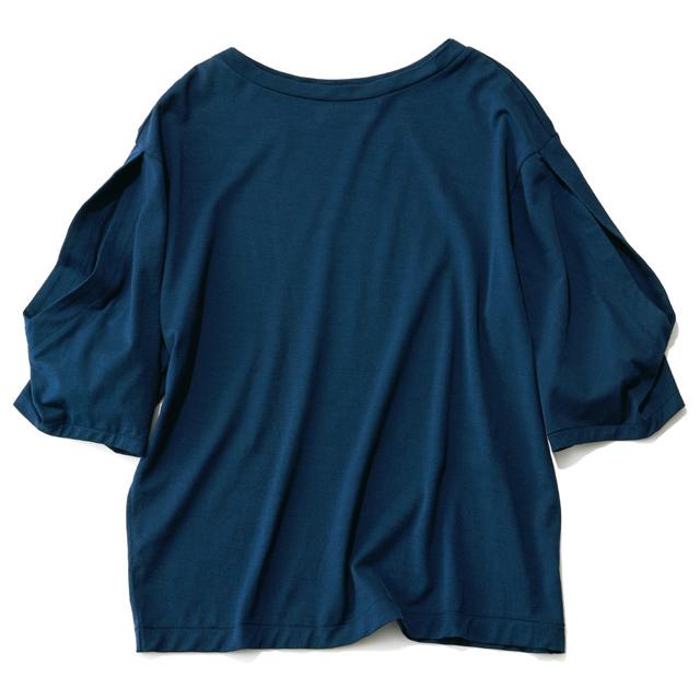 SAYAKA DAVIS オープンスリーブTシャツ(ネイビー)