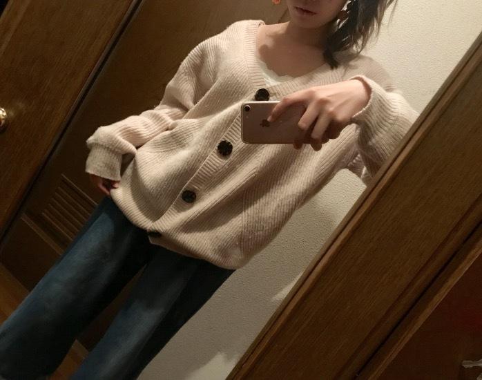 この秋買ったヘビロテ服♡スナのニットカーディガン♡_1_3