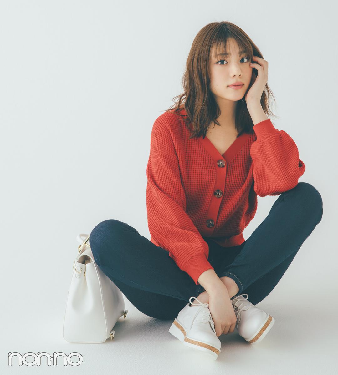 貴島明日香の赤×白×ネイビーがお手本! 好感度&おしゃれ感どっちも♡  _1_2