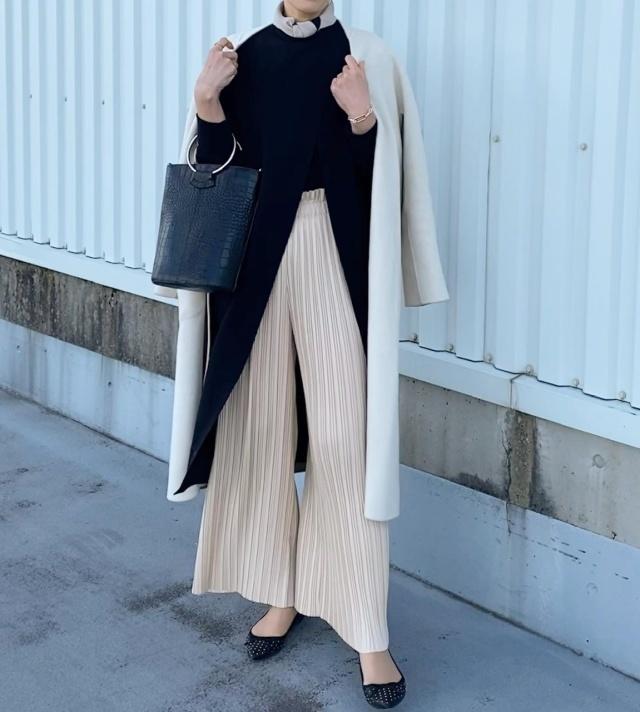 Outer: allureville /Dress: major /Pants: zara /Bag: unitedtokyo /Shoes: bananarepublic