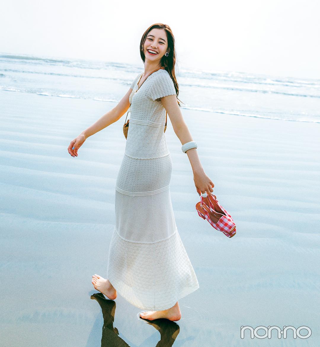 新木優子がこの夏着たいクロシェドレス1