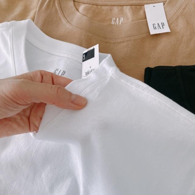 4色買い+1したGAPのテックジャージノースリーブTシャツ_1_2
