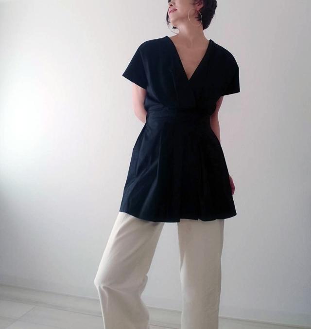 【ZARA】ブラックシャツで魅せる40代夏のモノトーンコーデ_1_5